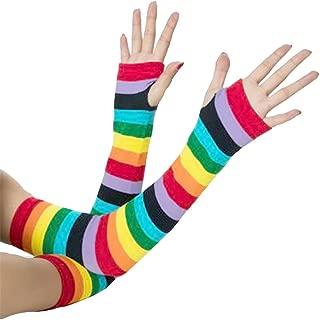XueXian Womens Girls Colorful Autumn Winter Long Fingerless Gloves Arm Warm