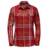Jack Wolfskin Camisa de Valle para Mujer, Rojo, XL