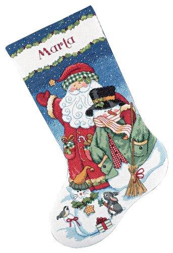 Dimensioni contati Punto Croce Kit, Babbo Natale e pupazzo di neve