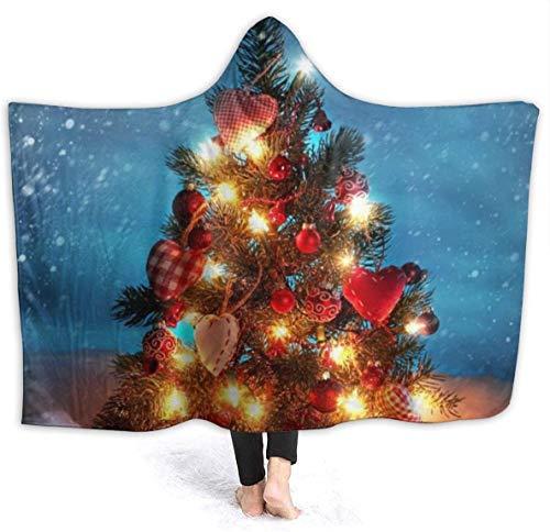 Manta capucha árbol Navidad debajo nieve capucha
