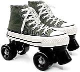 Roller Quadruple roller skates 34 roues patineurs de patinage professionnel patinant lames chaussures pour homme et femme unisexe adulte débutant sport à l'extérieur Pour les femmes et les hommes
