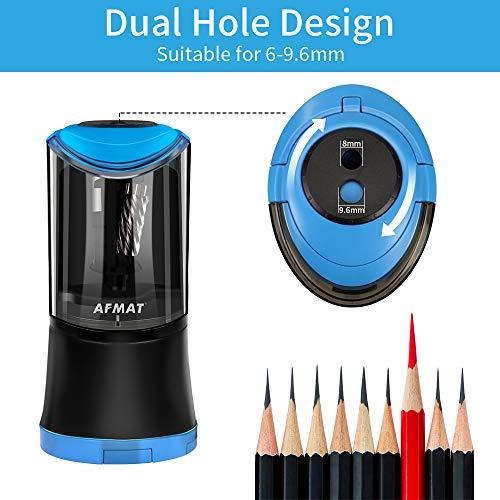 AFMAT Artist Pencil Sharpener, Charcoal Pencil Sharpener, Long Point Pencil Sharpener, Art Pencil Sharpener for 6-9.6mm Large Pencils, Rechargeable Pencil Sharpeners for Art Pencils-Blue Photo #3