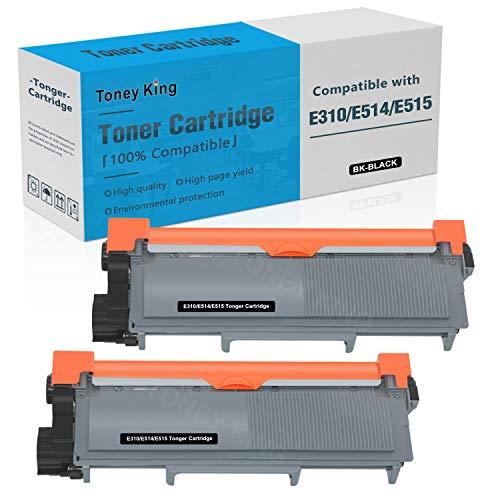 Compatible E310 E514 E515 Toner Cartridge Replacement for Dell E514dw E310dw E515dw E515dn Printer Toner Cartridges ( Dell PVTHG, 593-BBKD, P7RMX, 2,600 Page High Yield, 2PK x Black ) by Toney King
