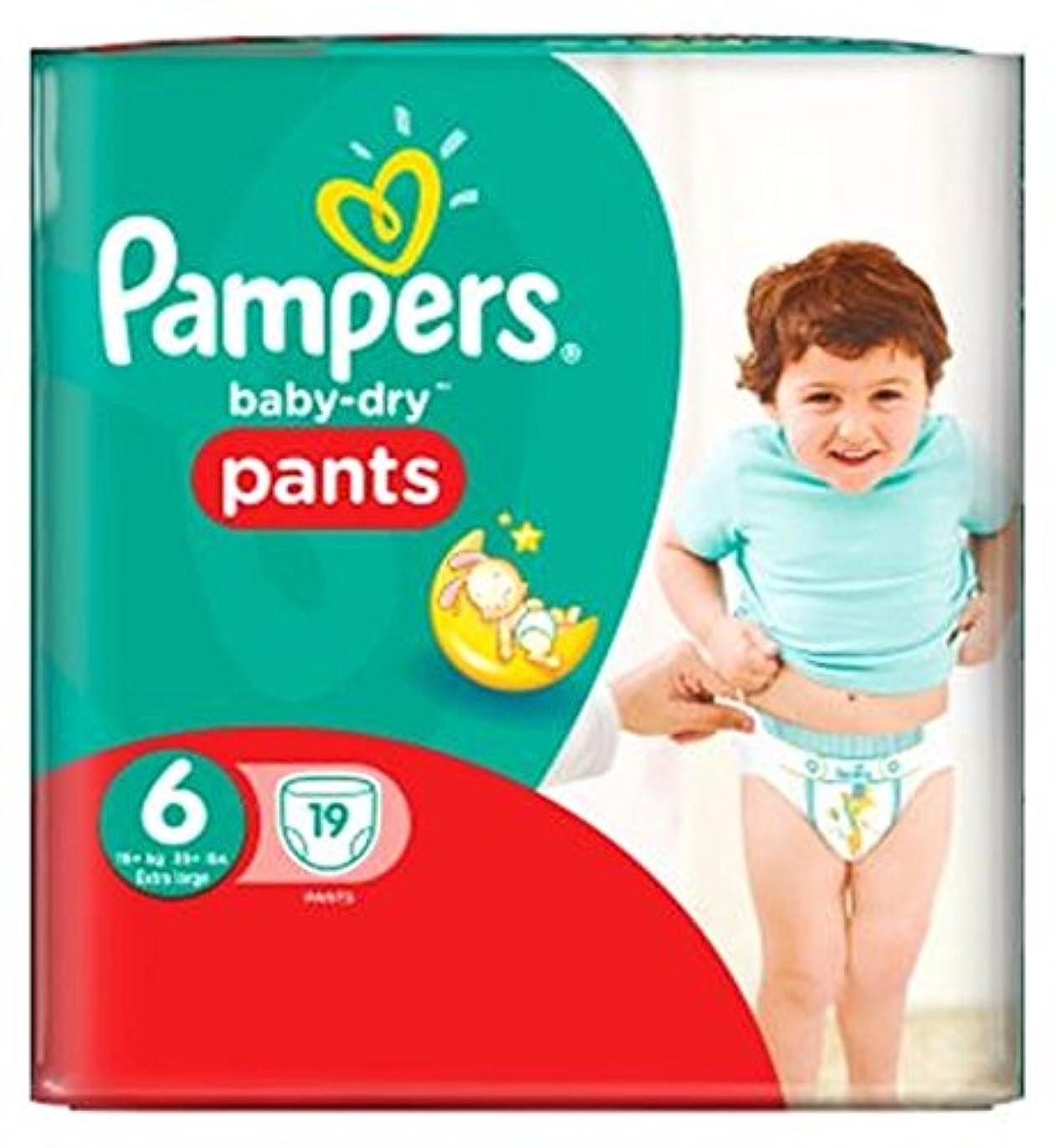 航海共役職人パンパースベビードライパンツサイズ6キャリーパック19 (Pampers) (x2) - Pampers Baby-Dry PANTS Size 6 Carry Pack 19 (Pack of 2) [並行輸入品]