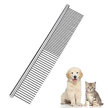 EQLEF®  Acier inoxydable Toilettage pour chiens Peigne Pet Comb 19cm