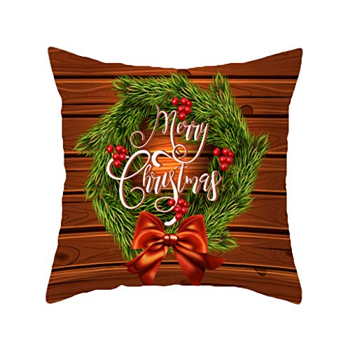 KAIDOU Christmas Sofa Bed Home Decor Pillow Case Cushion Cover Office Sofa