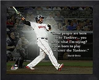 David Ortiz Boston Red Sox MLB Pro Quotes Photo (Size: 12 x 15) Framed