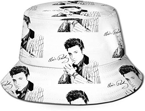 Trushop Unisex EL-vis Presley Eimerhut Sonnenhut Gedruckter Fisherman Packable Travel Hat Fashion Outdoor Hut