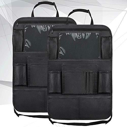 XYHCS Car Back Seat Organiser Travel Storage Bag Organizer iPad with Pocket Holder 9 Storage Pockets for Kids Toddlers (Color : 2 Pcs)