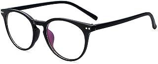 Unisex Glasses Frame Retro Clear White Round Full Frame Decoration Prescription Glasses