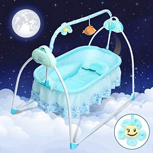 HEEGNPD 5,5 V 9 in einem elektrischen Großraum-Babybett Babybett Rocker Auto-Swing-Schlafbett
