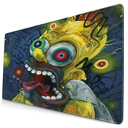 The Simpsons Mouse Pad Anti-Slip Mouse Pad Mat Mice Mouse Pad Desktop Mouse Pad Laptop Mouse Pad Gaming Mouse Pad, (15.8x29.5) Inch Nonslip Rubber Base Gaming Mouse Pad