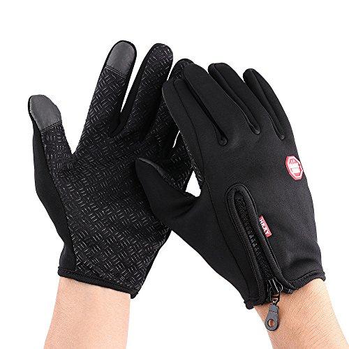 Motorhandschoenen, touchscreen, harde enkel, winter warme, waterdichte winddichte handschoenen voor motorfiets, klimmen, wandelen, fietsen, jacht in de vrije sport X-Large zwart