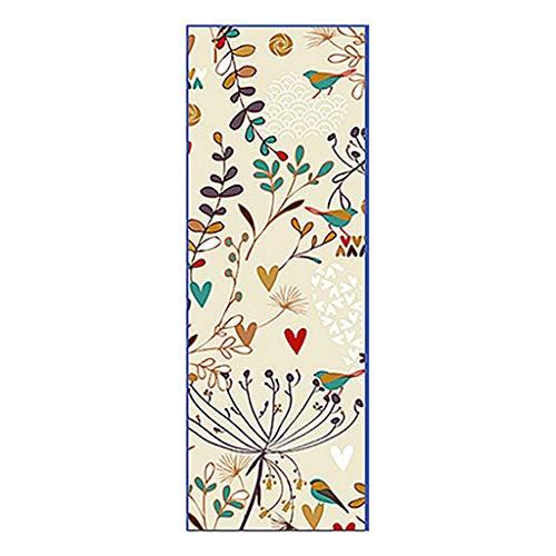 Andouy Yoga Handtuch Drucken Fitnesstuch - rutschfest, Leicht, Recyceltes, Saugfähiges Mikrofaser Yogahandtuch für Hot Yoga Bikram Ashtanga und Pilates(183X66CM.A)