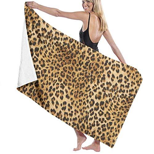 Bath Towel, Animal Leopard Print Bath Towels Super Absorbent Beach Bathroom Towels for Gym Beach SWM SPA