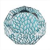 Cenicero JT- Patrón Hoja Creativo Cristales de la Sala Dormitorio Hecha a Mano Moderna Simple Durable (Size : 18cm)