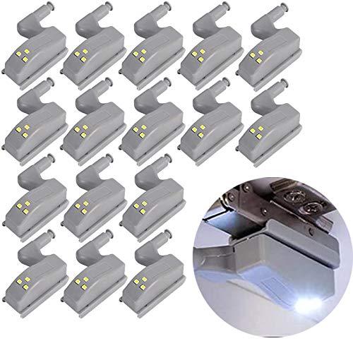 STTAR 16 luci a LED con sensore di luce per cucina, armadio, armadio, luce notturna, soggiorno, camera da letto, guardaroba, luce notturna
