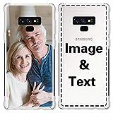 AIPNIS Coque Téléphone Personnalisée Compatible avec Samsung Galaxy Note 9, Photo ou Texte...