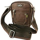Bolsa de hombro 'Lois Jean'de color marrón - 20x16.5x8 cm.