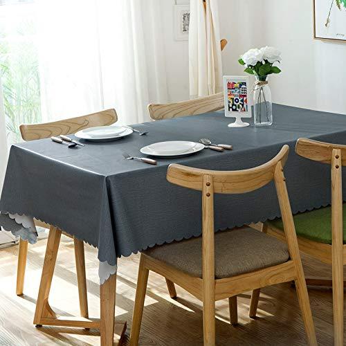 kailehi Drucken Sie Nordic Plaid Waterproof 140 * 220 PVC Pure Blue,Tischdecke Outdoor, wetterfest, für Garten, Balkon & Terrasse