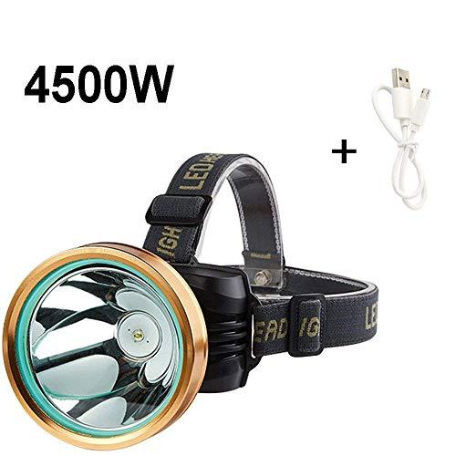 ZLHW LED Verstellbare Scheinwerfer Licht Lade-Reichweite 3000 Meter Kopf-Taschenlampe super helle Nacht Angeln Angel Lampe