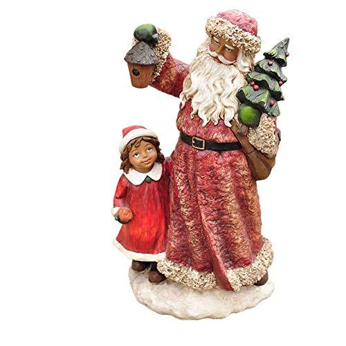 aasdf Santa Claus Statue, Garten gemalte Skulptur Santa Claus Resin Crafts Außenterrassenmöbel Dekoration