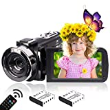 Hegomn - Videocámara digital HD de 2,7 K para adolescentes/estudiantes/niños, 2688 x 1520p, para principiantes de YouTube Vlogging
