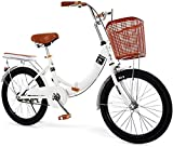 Brushes Mujer Adulta Princesa Elemental Escuela señora súper luz Variable Velocidad Pedal Bicicleta Plegable Bicicleta 22 Pulgadas Masculino