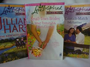 Lot of 4 Love Inspired Larger Print Romances (The Ranchers Promise, Small Town Brides, A Colorado Match, Restless Heart)