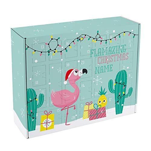 Herz & Heim® Adventskalender für Teenager zum Befüllen mit Flamingo - Flamazing Christmas