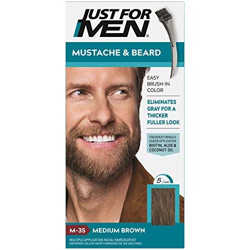 Just for Men JUSTE POUR HOMMES Couleur Gel Mustache & Barbe M-35 brun moyen 1 ch (Pack de 6)