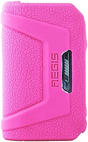 Rayley Protective Silicone Texture Case for Aegis Legend 2 L200 V2 200W MOD Kit Skin Sleeve Cover ModShield Wrap Gel Case (Pink)