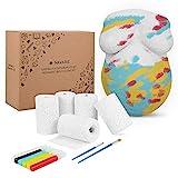 Navaris Babybauch 3D Gipsabdruck Set - inkl. Handschuh und Farbe - Gips Bauchabdruck Schwangerschaft - Abdruck Gipsabdruckset Bauch