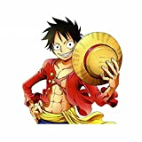 BLKUOPAR 5.1'' for One Piece Luffy Personality Anime Car Stickers Vinyl Waterproof Car Accessories Creative Trunk Refrigerator Decals