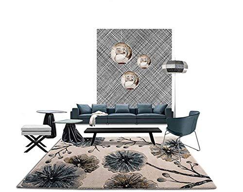 GEDTFC Moderne Simplicité Tapis Rectangulaire Salon Table Basse Canapé Couverture Table à Thé Chambre À Coucher Home Tapis Yoga Mat (Size : 160 cm × 230 cm)