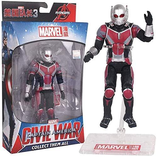 Yxsd toy model Vengadores 3/4 juguetes – Titan Hero Series – Iron Spiderman/Iron Man/Hulk/Capitán América/Thanos/Black Panther/Vision/Halcón/Ant-Man figura – Joint movible (color: Ant-Man)