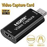 DIGITNOW! Scheda di Acquisizione Audio Video HDMI a USB 2.0 1080p Tramite DSLR, videocamer...