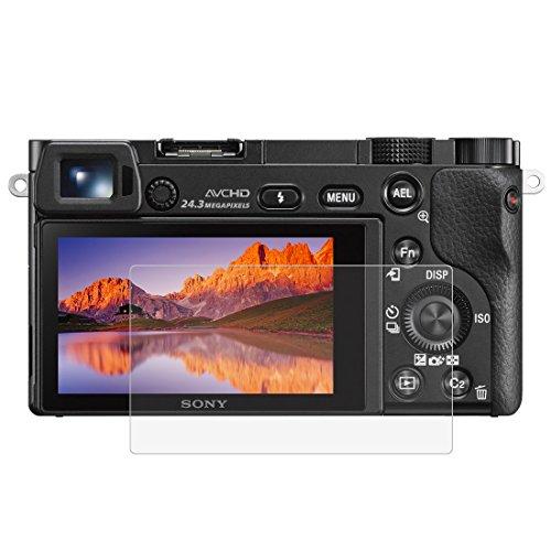 BYbrutek Pellicola Salvaschermo in Vetro Temperato per Sony A6000/A6300, Durezza 9H, Antigraffio Pellicole Protettive per Display per Fotocamera Digit