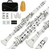 Best Student Clarinets - EASTROCK Clarinet Bb Flat 17 Nickel Keys White Review
