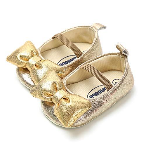 LIVEBOX Infant Newborn Baby Girl Shoes Premium Soft Anti-Slip Crib Shoes Prewalker Toddler Shoes Mary Jane Princess Dress Shoes for 0-18 Months Babies