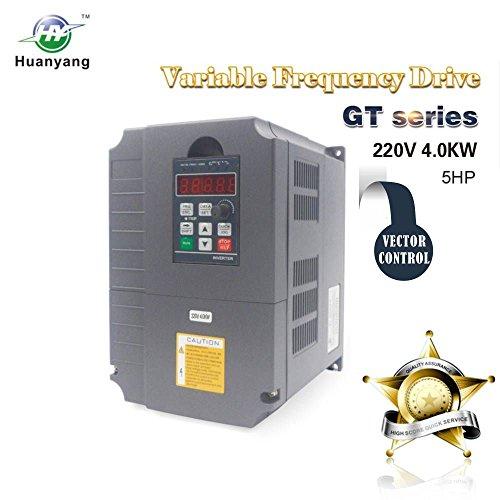 Vektorregelung Computerized Numerical Control (CNC) Frequenzumrichter (VFD) der Motor Inverter Konverter 220V 4.0KW 5.4PS für Spindelmotor Kontrolle der Geschwindigkeit Huanyang GT–Serie