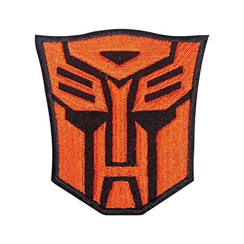 Parche bordado con logotipo colorido de transformador para coser en la insignia para ropa, etc