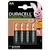 Duracell Rechargeable AA 2500 mAh Mignon Akku Batterien LR6, 4er Pack