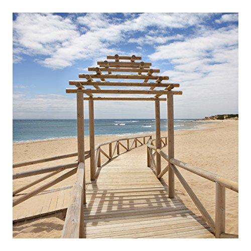 Non-woven Wallpaper- playa camino hacia el mar en Andalucía–Mural Square