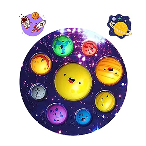 Solar System Dimple,Simple Planet Dimple Oversize Poper Fidget Space Astronomy Toy Educational Toys for Party Favors Birthday Gift