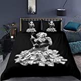 LJz 3-Piece Bedding Set, Marilyn Monroe Duvet Cover, Soft Microfiber Bed Set, with Quilt Cover and 2 Pillowcases (Color : Style01, Size : King:90'x104')
