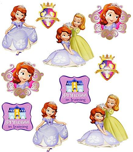 alles-meine.de GmbH 10 TLG. Set _ Wandtattoo / Sticker -  Sofia - auf einmal Prinzessin  - Wandsticker - Aufkleber für Kinderzimmer - selbstklebend + wiederverwendbar - The Fir..