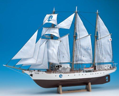 ウッディジョー 1/75 あこがれ 木製帆船模型 組立キット