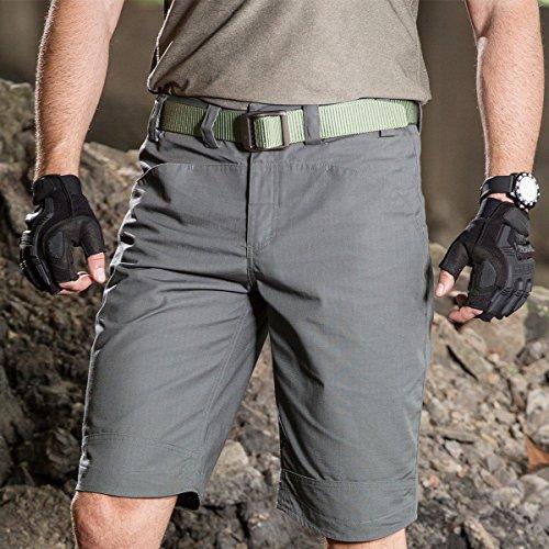 FREE SOLDIER Sport Handschuhe Taktische Motorradhandschuhe Herren Halbfinger Handschuhe mit gepolstertem Ideal für Fahrrad Airsoft Militär Paintball Kletter und andere Outdoor Aktivitäten Braun S - 6