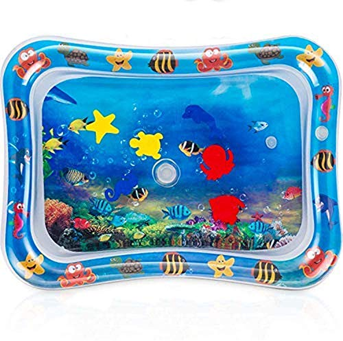 QINGBAO Tummy time Water Sensory mat Water Play Mat,IInfant Baby Toys & Toddlers Fun Activity Play Center for Boy & Girl Growth Brain Development BPA-Free Baby Toys for 3-12 Months (26''x20'')
